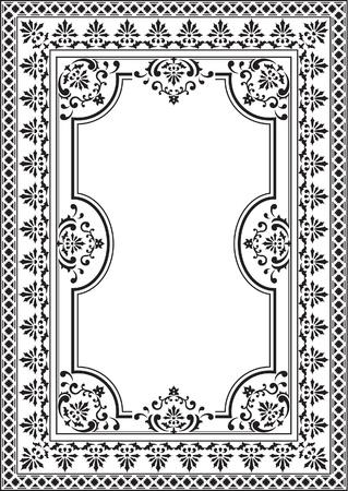 Alt Eleganz Bild auf weißem Standard-Bild - 14335801