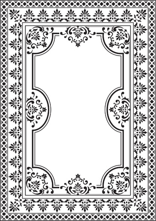 Old elegance picture on white Vector