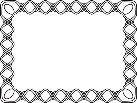 Vintage frame on white