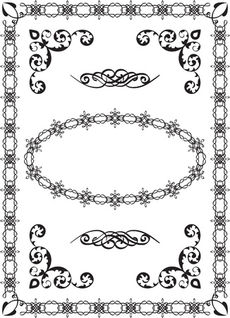 Classic border on white Vector