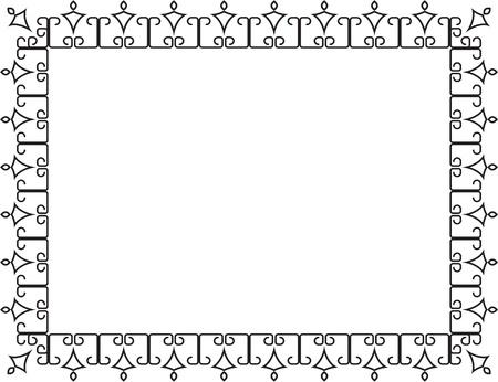 Elegance border on white