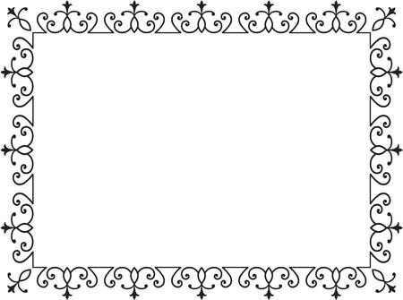 Stile old border on white Vector