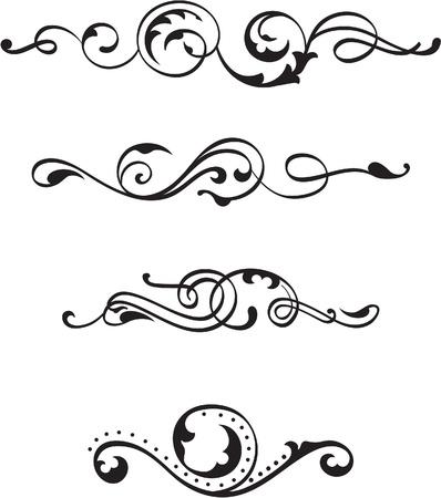 nb: Vintage divide scrolls on white