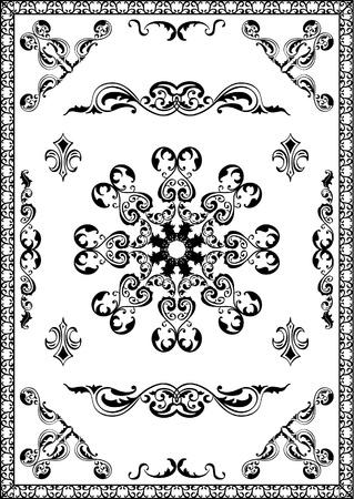 ornamente: Classic set ornamente on white