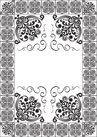 Victorian page isolated on white
