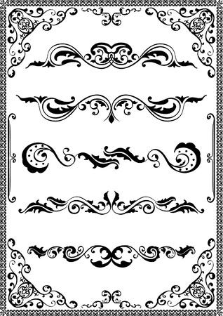 ornamente: Victorian scrolls ornamente on white