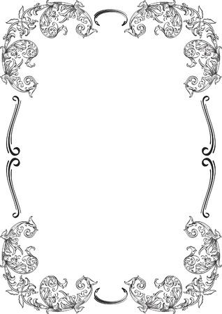 ornamente: Acanthuse ornamente border isolated on white