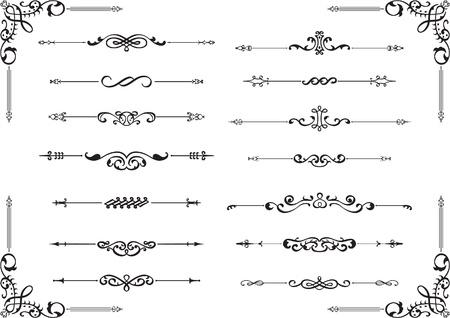 Divide-Linien auf weißem isoliert Standard-Bild - 19109626