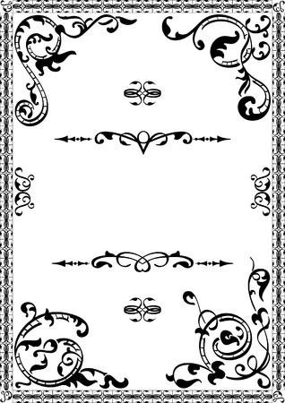 florish: Florish corner elements isolated on white
