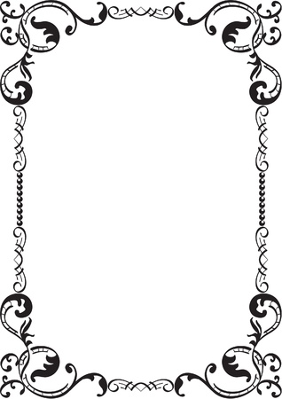 acanto: Flourish marco aislado en blanco