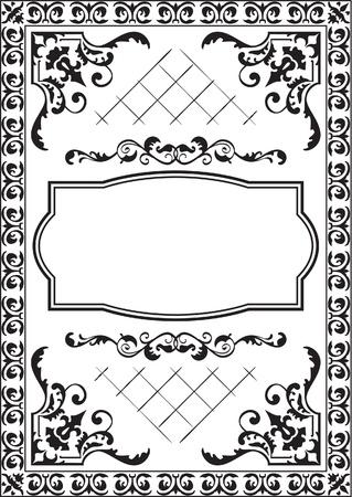 interweaving: Bella carta isolato su bianco