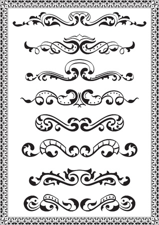 Dividers lines for design isolated on white Vector