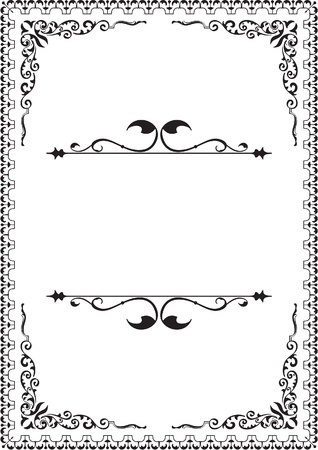 Victorian border isolated on white Vector