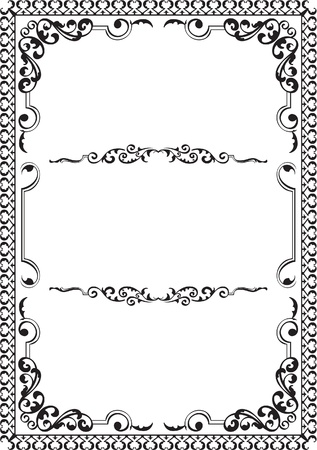 Victorian nice book page isolated on white Vector