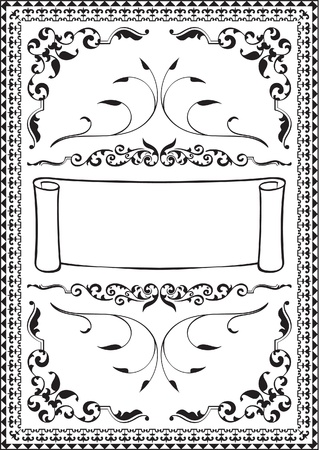 Victorian page isolated on white Vector