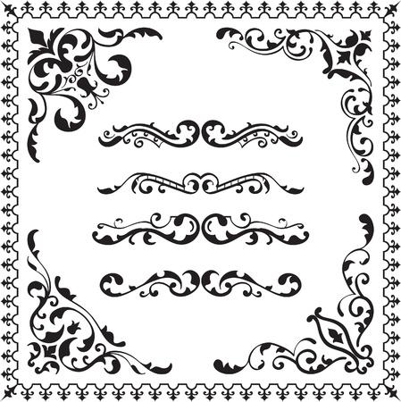 Elements for design set isolated on white Illustration