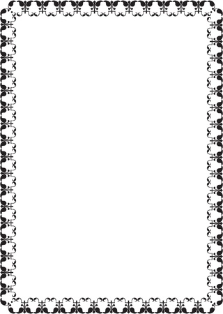 Ornate border isolated on white Stock Vector - 19862463