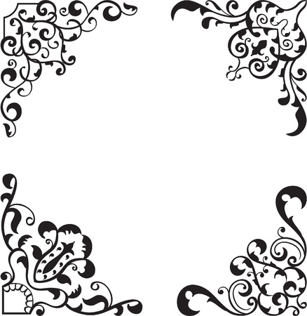 Perfect corner set isolated on white Stock Vector - 19862458
