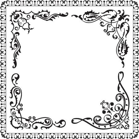 Vintage corner design isolated on white Stock Vector - 19862464