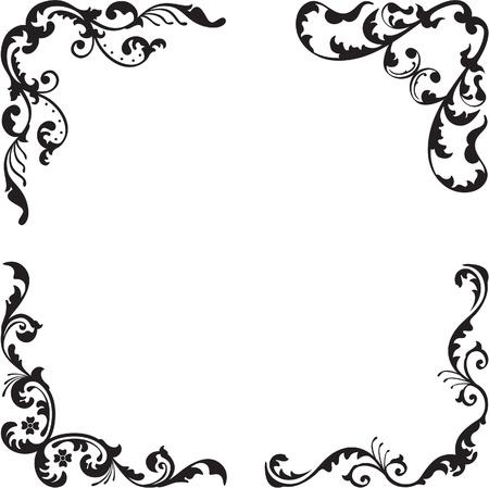 Mooie klassieke hoek set is geïsoleerd op wit Stock Illustratie