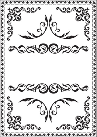 interweaving: Nice rococo frame is isolated on white