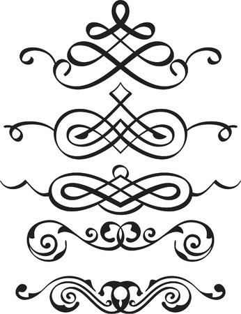 Spiral Teilerelemente ist isoliert auf weiß Standard-Bild - 20037712
