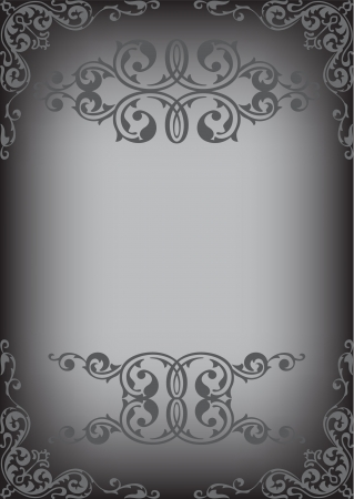 Black classic page isolated on white Vector
