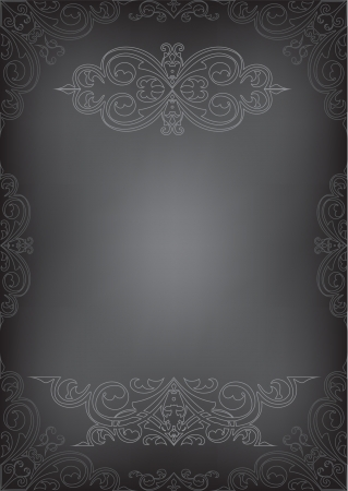 Black page isolated on white Vector