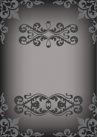 Black perfict border isolated on white Vector