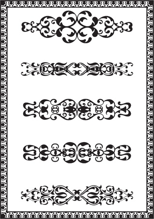 interweaving: Fine design elements is iolated on white Illustration