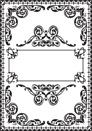 Fine ornate page isolated on white