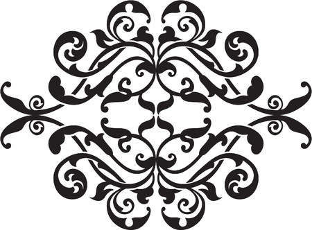 interweaving: Ornate pattern isolated on white Illustration