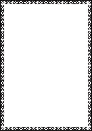 figuration: Nice border isolated on white