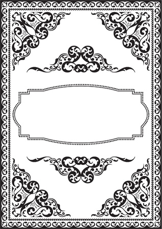 Ornate picture isolated on white Illustration