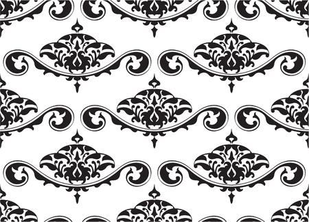 tracery: Seamless classic tracery on white Illustration