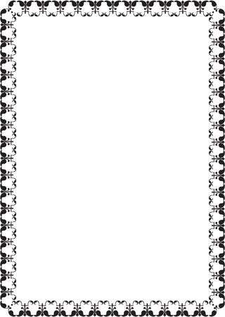 figuration: Ornate border isolated on white