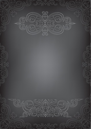 Black page isolated on white photo