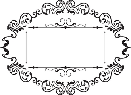 gothic revival style: Ornament border isolated on white