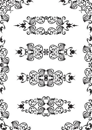 figuration: Set of design elements isolated on white Stock Photo
