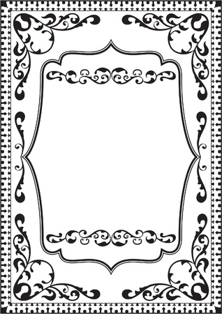 florid: Fine classic frame is isolated on white