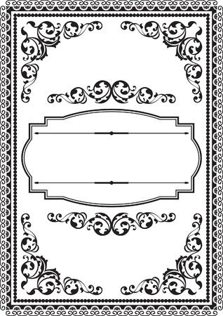 figuration: Fine modern border isolated on white