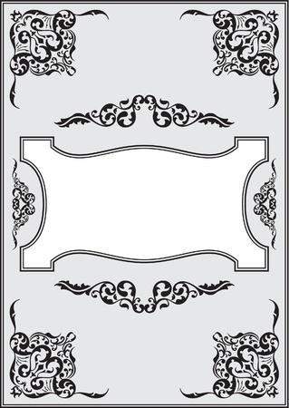 florid: Fine ornate border isolated on white Stock Photo