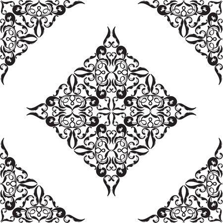 ornamente: Perfect ornamente on white