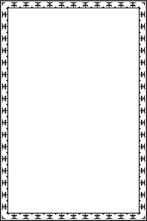 Border is isolated on white Vector