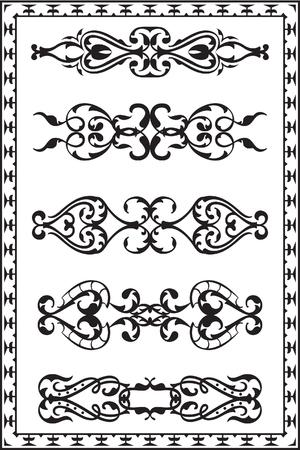 gothic revival style: Divide lines on white Illustration