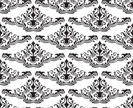 figuration: Fine seamless pattern on white