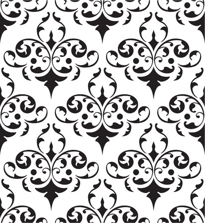 florid: Seamless pattern is on white