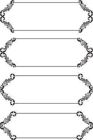 boarders: Set of boarders on white