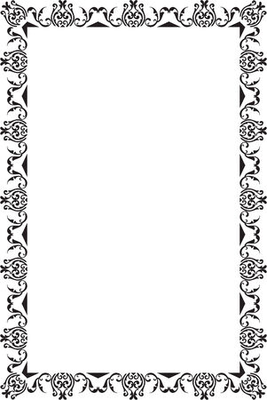 Nice Frame Is On White Royalty Free Cliparts, Vectors, And Stock ...