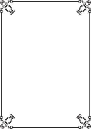 interweaving: Nice classical frame on white